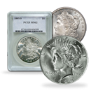 Morgan / Peace Silver Dollars