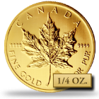 1/4 oz Canadian Gold Maple Leafs