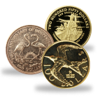 Gold Coins from Various Caribbean Countries